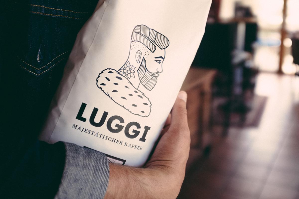 KAFFEE LUGGI – Lilagold Designbüro
